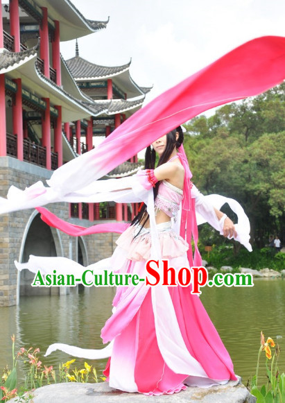 Ancient Chinese Long Water Sleeves Classical Dancing Costume