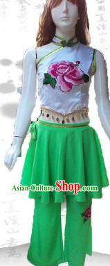 Traditional Fan Dancing Suit for Kids