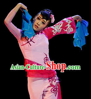 Mandarin Handkerchief Female Dance Costumes and Handkerchief