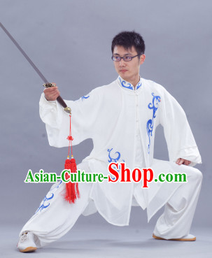 Top Long Sleeves Tai Chi Uniform and Veil for Men
