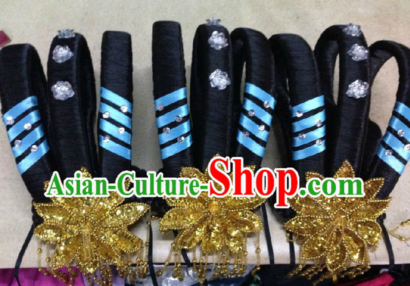 Chinese Classical Dancing Wig and Headwear