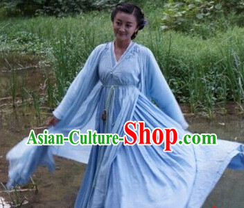 the Journey of Flower Chinese TV Drama White Hanfu Clothes for Women