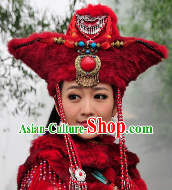 Traditional Mongolian Ethnic Princess Hat