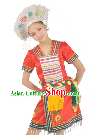Taiwan Gaoshan Minority Clothing and Hat for Women