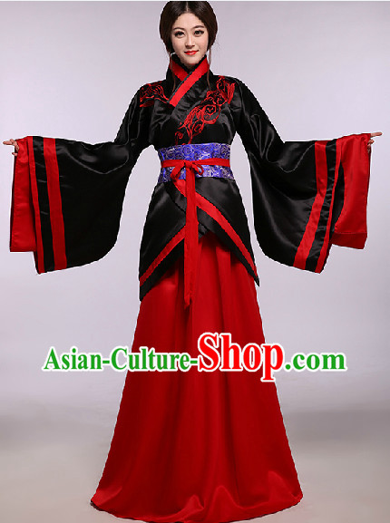 Black Ancient Chinese Traditional Dresses