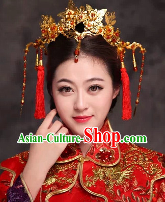 Ancient Costume Bride Phoenix Coronet Hair Ornament Stage Performance