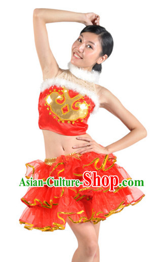 Chinese Christmans and New Year Dance Team Costumes for Women