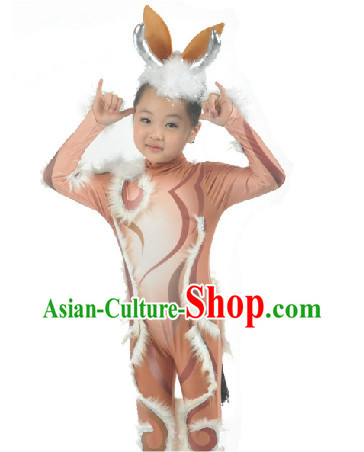 Modern Deer Dance Costumes Suit for Kids
