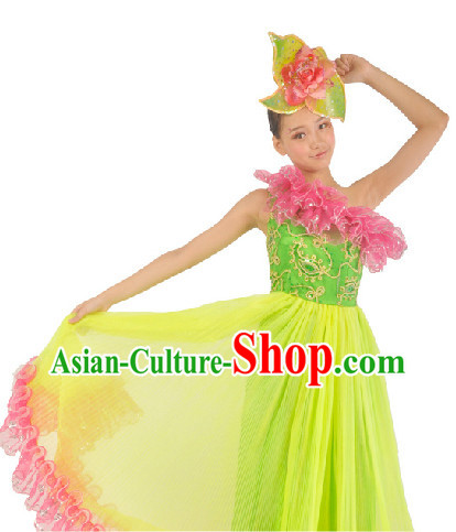Top Adult Dance Costumes Flower Shape