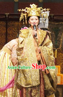 Tang Dynasty Wu Ze Tian Female Emperor Clothes and Hat Complete Set