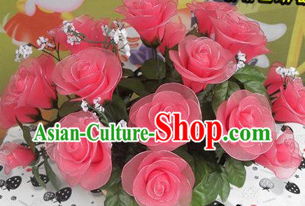 Handmade Rose Flower Dance Props
