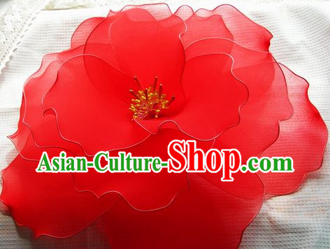 Handmade Big Peony Dance Props Decorations