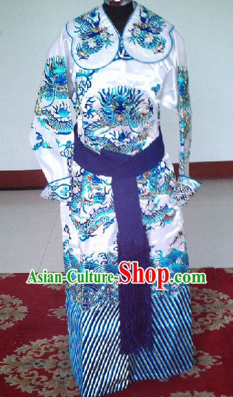 Beijing Opera Dragon Embroidery Suit for Men