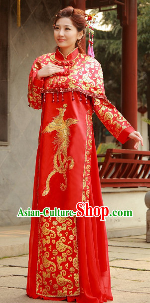 Chinese Red Wedding Dresses for Women