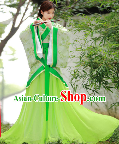Princess Mulan Hanfu Style Play the Flageolet Clothes