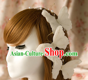 White Butterfly Wedding Hairstyles   Hair Accessories
