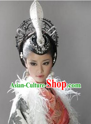 Traditional Chinese Empress Hair Ornaments and Wig