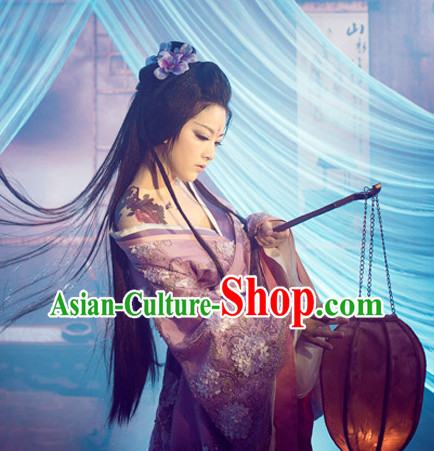 Chinese Classical Hanfu Dresses with Long Trail