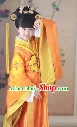 Ancient Chinese Imperial Court Costumes for Kids