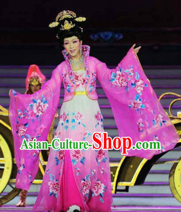 Ancient Chinese Tang Dynasty Princess Embroidered Clothes Complete Set