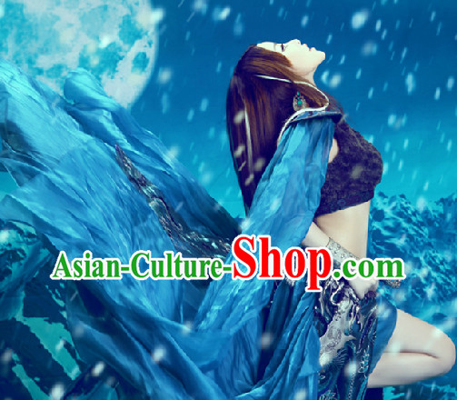 Ancient Chinese Blue Cosplay Costumes