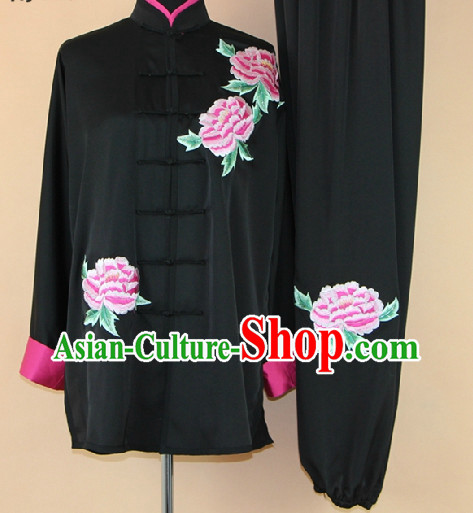 Traditional Chinese Black Martial Arts Suit Complete Set