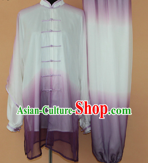 Traditional Mandarin Silk Martial Arts Competition Suit for Men or Women