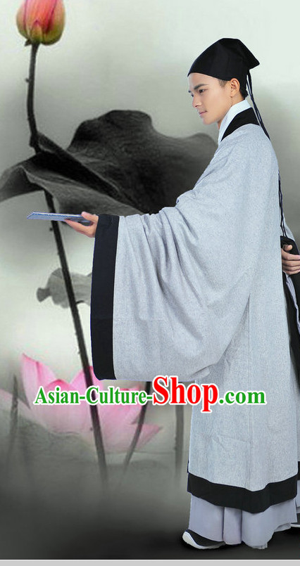 Ancient Chinese Academic Dress and Hat for Men