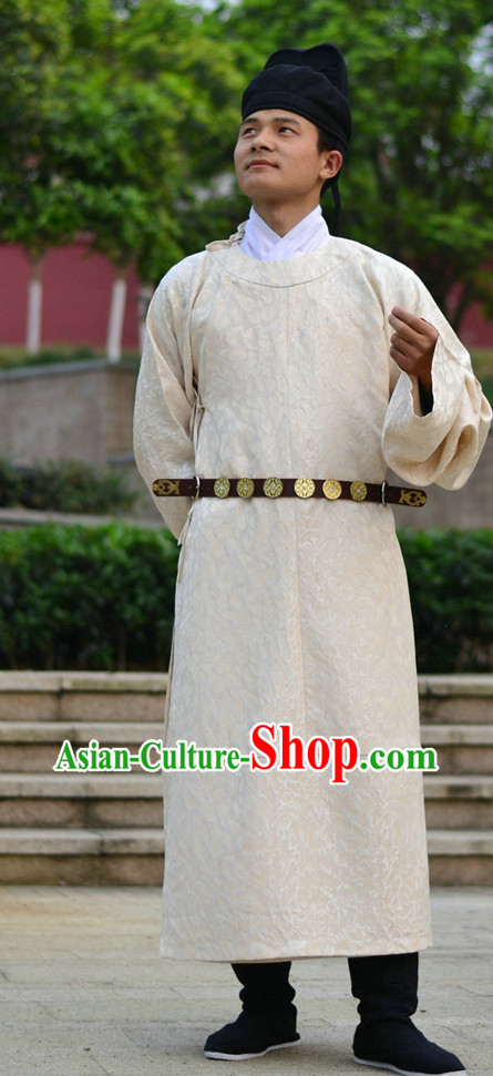 Everyday Court Dress Tang Dynasty Gown Clothes Complete Set for Men