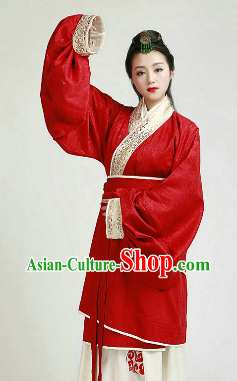 Red Ceremonial Wedding Dress for Brides