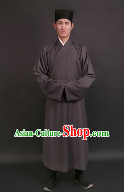 Han Dynasty Hanfu Everyday Court Dress Changfu and Hat for Men