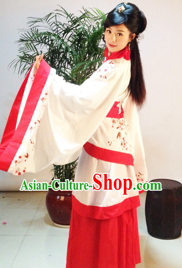Ancient Chinese Hans Painted Hanfu Garment Complete Set for Women
