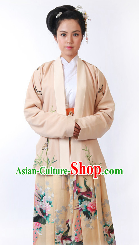 Peacock Hanfu Dress for Women