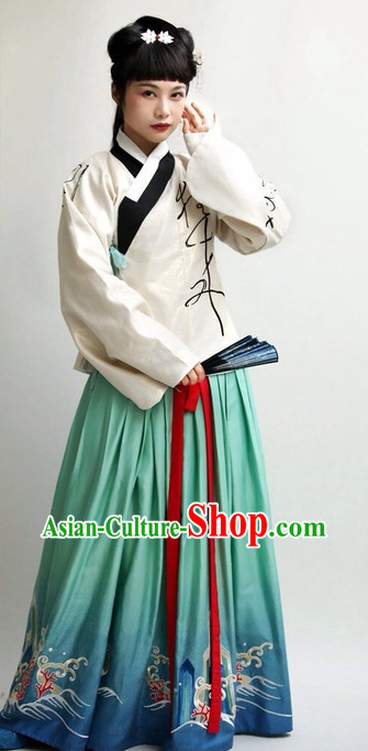 Chinese National Costumes for Girls
