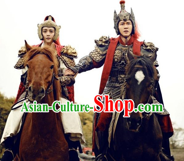 Chinese Armor Costumes and Helmets for Men and Women