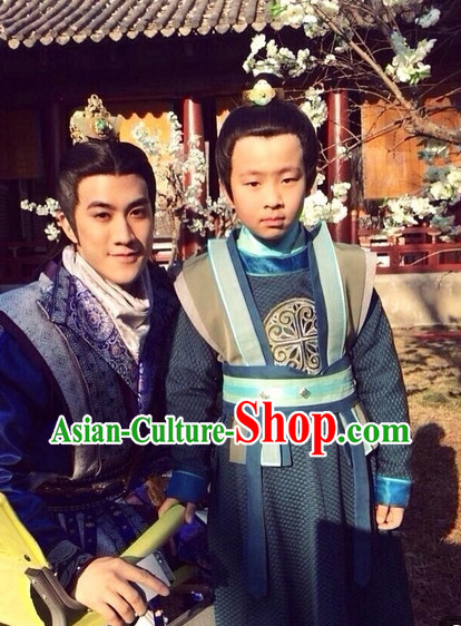Traditional Chinese Prince Dress Complete Set for Kids