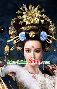 Chinese Empress Bridal Hairstyles Wedding Accessories Bridal Jewellery