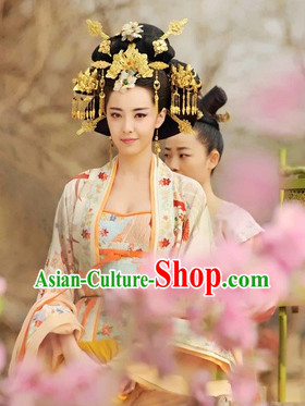Chinese Traditional Bridal Hair Accessories and Wig