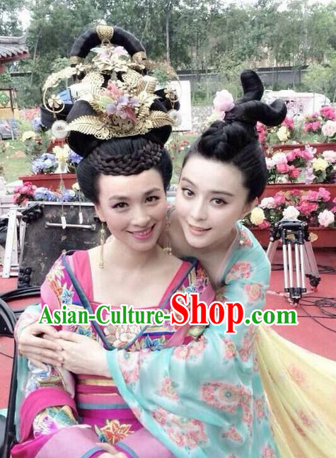 Chinese Traditional Bridal Hairstyles Wig and Headpieces