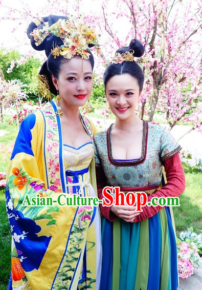 Ancient Chinese Empress Robes and Headpieces Complete Set