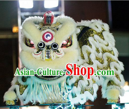 LED Eyes Top Chinese Lion Dance Equipments Complete Set Set for Spring Festival