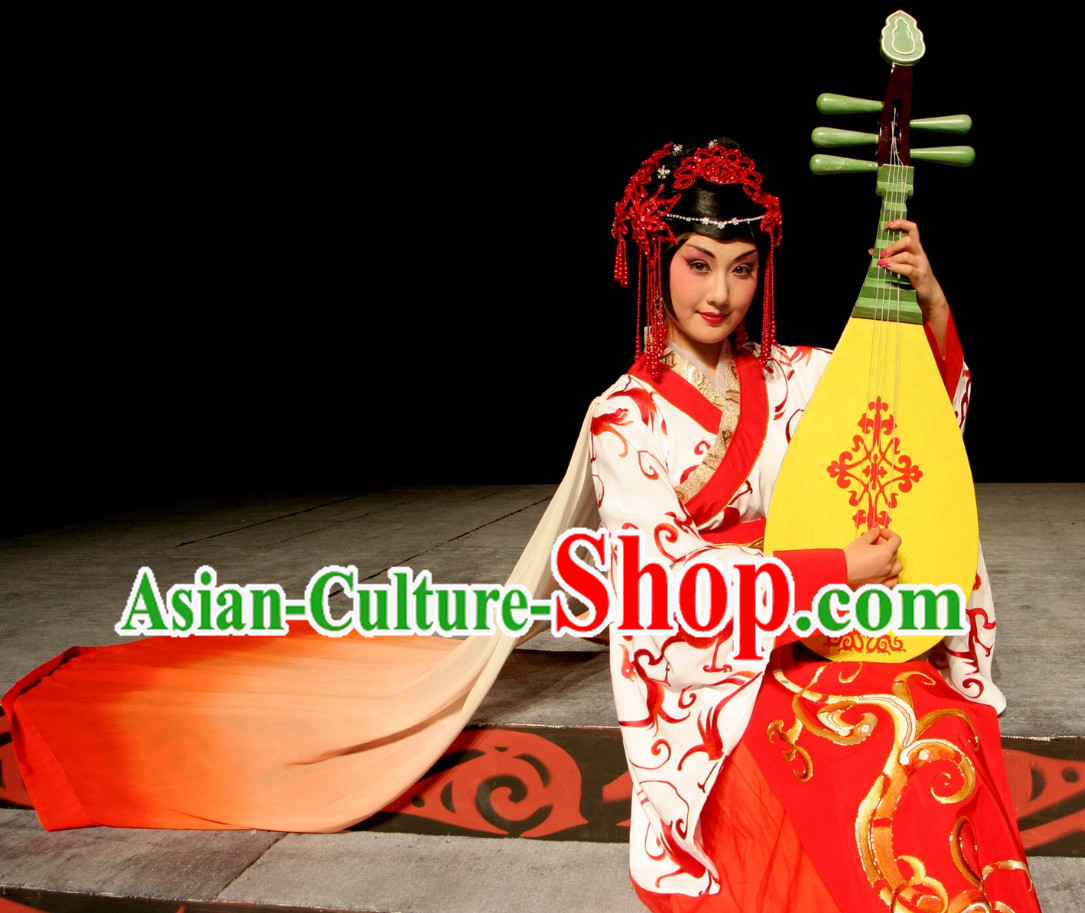 Wang Zhaojun Theatre Costumes and Headwear Complete Set