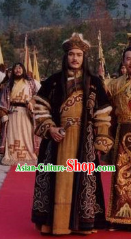 Ancient Chinese Mongolian Emperor Costumes and Hat
