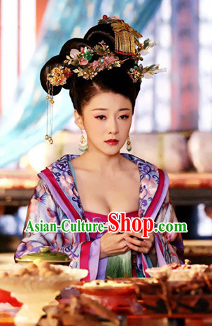 Chinese Imperial Empress Wig and Hair Accessories