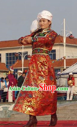 Chinese Mongolian Clothing and Hat