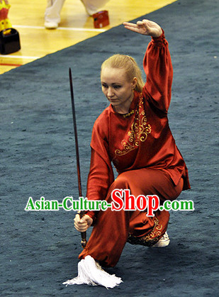 Top Martial Arts Competition Silk Uniform