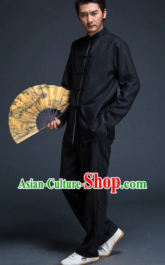 Top Black Martial Arts Suit for Men