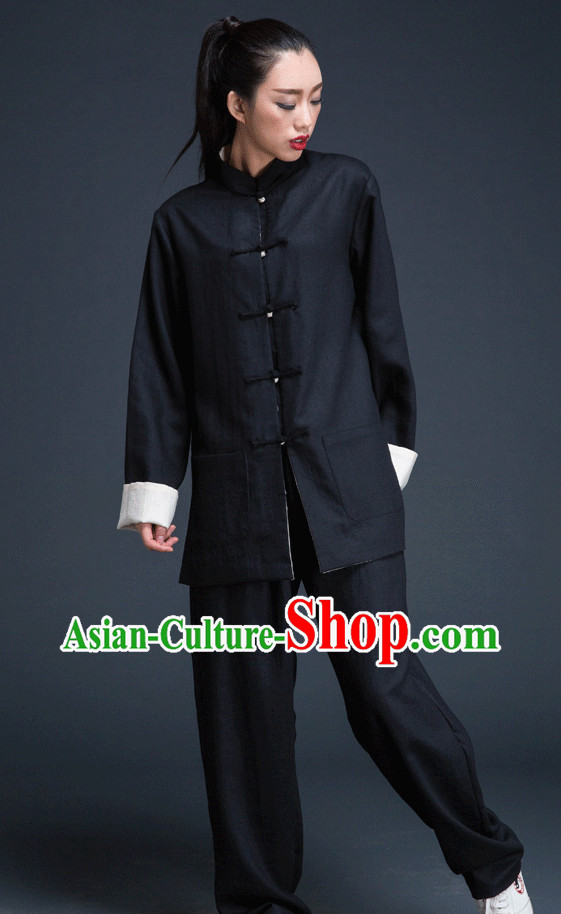 Black Traditional Martial Arts Uniforms for Women