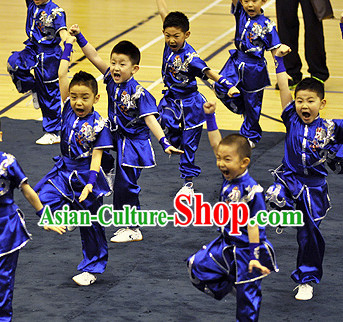 Traditional Martial Arts Embroidered Uniforms for Children