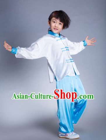 Traditional Martial Arts Silk Uniforms for Kids